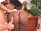Busty Ebony Chick Fucked In The Face And Vagina