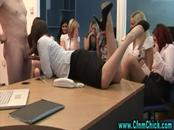 Cfnm european office girl sucks