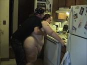 Huge BBW Milf Fucked in the Kitchen