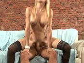 Aroused tranny has fun with dick sucking