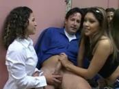 2 Girls Catch Him Jacking Off