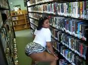 LMFAO!! Ebony MILF Booty Twerking at the Library - Ameman