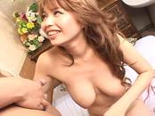 Pretty busty Japanese girl's hot hairy cunt fucked