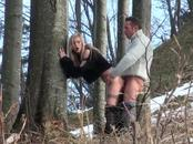 Game European In Boots Gets Her Snatch Fired At Woods